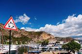 Warning Sign, Monaco — Foto Stock