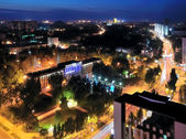 Night view of the city, Donetsk — Стоковое фото