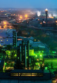 Night view  of industrial metallurgical  plant — Stock Photo