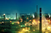 Night view  of industrial metallurgical  plant — Стоковое фото