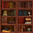Stock Photo: Bookcase