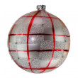 White and red christmas ball tree isolated on white background — Stock Photo