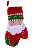 Christmas santa claus rode mitten geïsoleerd op witte achtergrond — Stockfoto