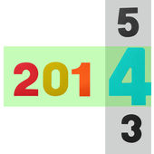 2014 year (design element for calendar, greeting cards) — Stock Photo