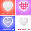 Happy valentines day cards with hearts — Стоковая фотография