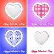 Happy valentines day cards with hearts — Stok fotoğraf