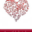 Valentines Day Card With Heart — Stockfoto