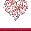 Valentines Day Card With Heart — Stock Photo
