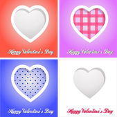 Happy valentines day cards with hearts — Stockfoto