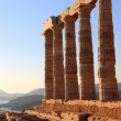 Stock Photo: Ancient temple of Poseidon, Cape Sounion, Attica, Athens, Greece