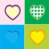 Vector set of colorful hearts — Stock Vector