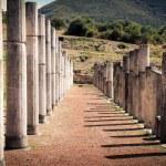 Постер, плакат: Ruins in ancient city of Messina Peloponnes Greece
