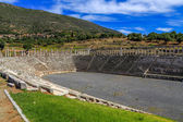 Ruins of stadium in ancient city of Messina, Peloponnes, Greece — Stock Photo