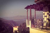 Vintage post card, Balcony view. — Zdjęcie stockowe