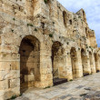 Wall of ancient theater of Herodes Atticus Odeon, Athens, Greece — Stock Photo #50152615