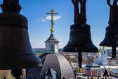 View from the bell tower of the church — Foto Stock