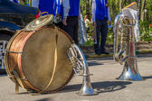Musical instruments on the holiday of Victory in the Great Patriotic War — Stock Photo