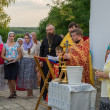 Постер, плакат: Prayer service at the church of St John the Evangelist in the religious procession in memory of the Holy Royal Martyrs Arzamas