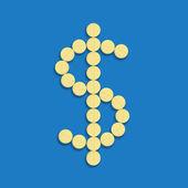Dólar de pastillas — Foto de Stock