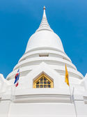 Gold window on white Pagoda — Stock Photo