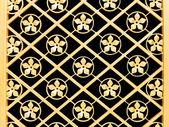 Golden metal pattern of the door. — Stockfoto