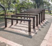 Wooden bar for exercise — Stok fotoğraf