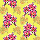 Illustration orchid flower pattern — Stock Photo