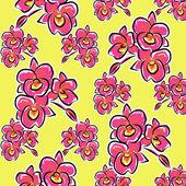 Illustration orchid flower pattern — Stock Photo