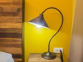 Table lamp in the bedroom — Stockfoto