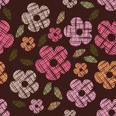 シームレスなヴィンテージの花の壁紙パターン — ストックベクタ