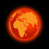 Abstract global warming — Stock Vector