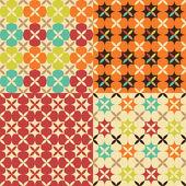 Modello geometrico di fiore senza soluzione di continuità — Vettoriale Stock