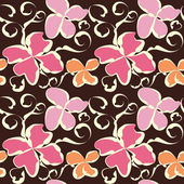 Seamless abstract flower pattern — Stock Vector