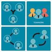 Teamwork symbol — Stock Vector