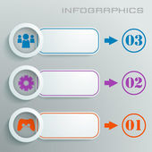 White infographic with numbers, signs and icons in different colors with text — Vector de stock