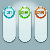 White schedule information in the form of samples with numbers and illuminated in different colors — Stock Photo