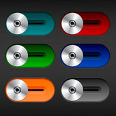 Colorful switches for texturing background with highlights and shadows — Stock Vector
