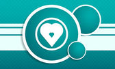 Infographic with heart icon on texturing background — 图库矢量图片