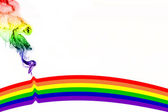 De regenboog in rook — Stockfoto
