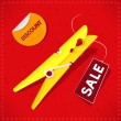 Sale Red Background — Imagen vectorial