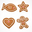 Vector christmas gingerbread — Stock Vector