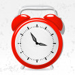 Red alarm clock — Vector de stock