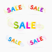 Vector Sale titles — Stock Vector