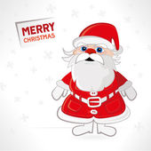 Santa claus on white background — Stock Vector
