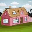 Vector family house — Image vectorielle
