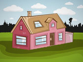 Vector family house — Stock Vector