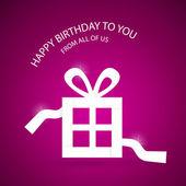 Vector Happy Birthday violet background — Stock Vector
