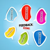 Colorful Vector Feedback Icons — Stock Vector