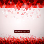 Vector red triangle background — Stock Vector