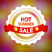Hot Summer Sale Background — Stock Vector